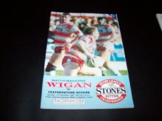 Wigan v Featherstone Rovers, 1990/91